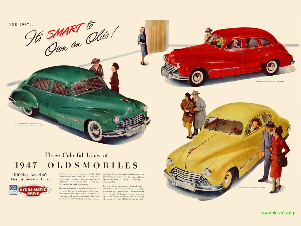Oldsmobile 1947 Ad