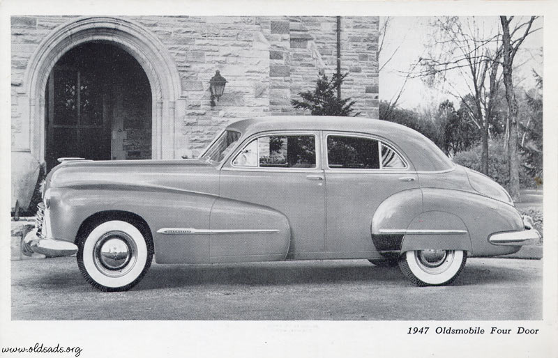 Dealer card archives for 1948 oldsmobile 4 door sedan