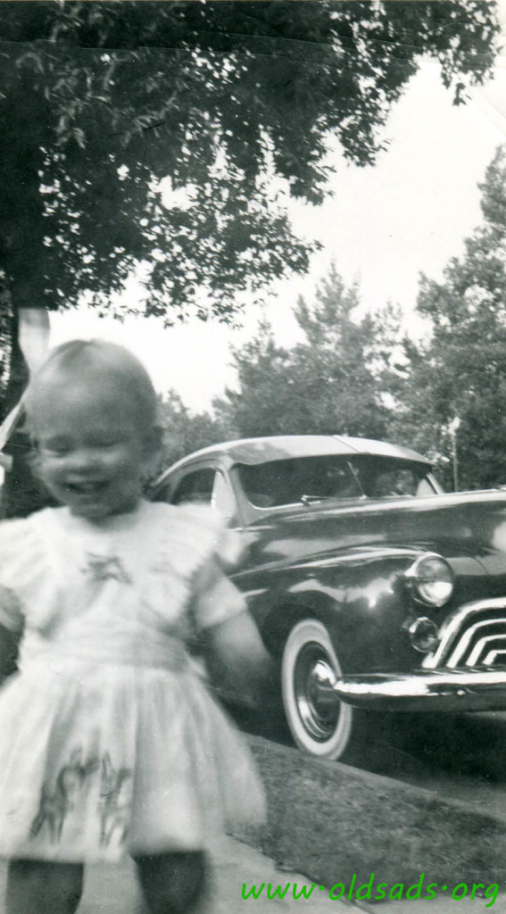 1948 Oldsmobile with Mary